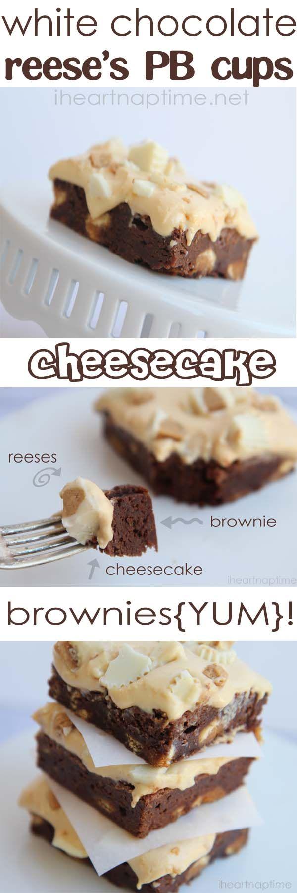 white chocolate...peanut butter...cheesecake... brownies!! YUM!