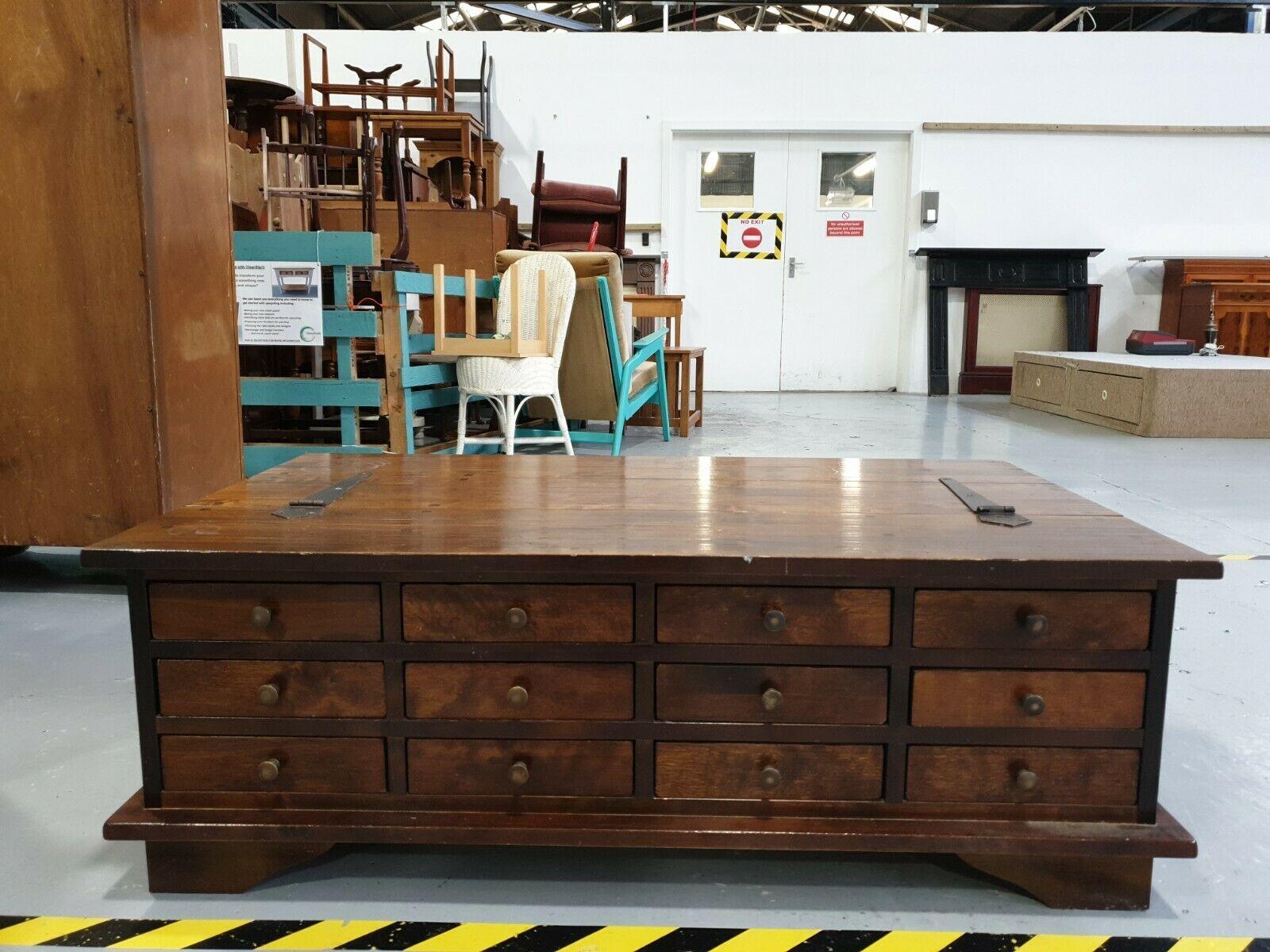Large Vintage Retro Storage Cabinet Coffee Table Sideboard Sofa Table Ottoman Ebay Coffee Table And Sideboard Vintage Sideboard Ottoman Table [ 1200 x 1600 Pixel ]