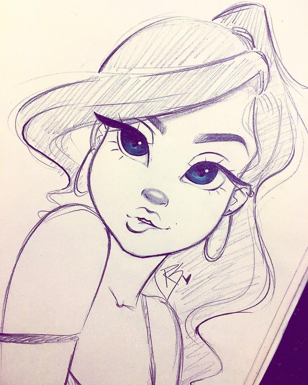 cartoon girl drawing