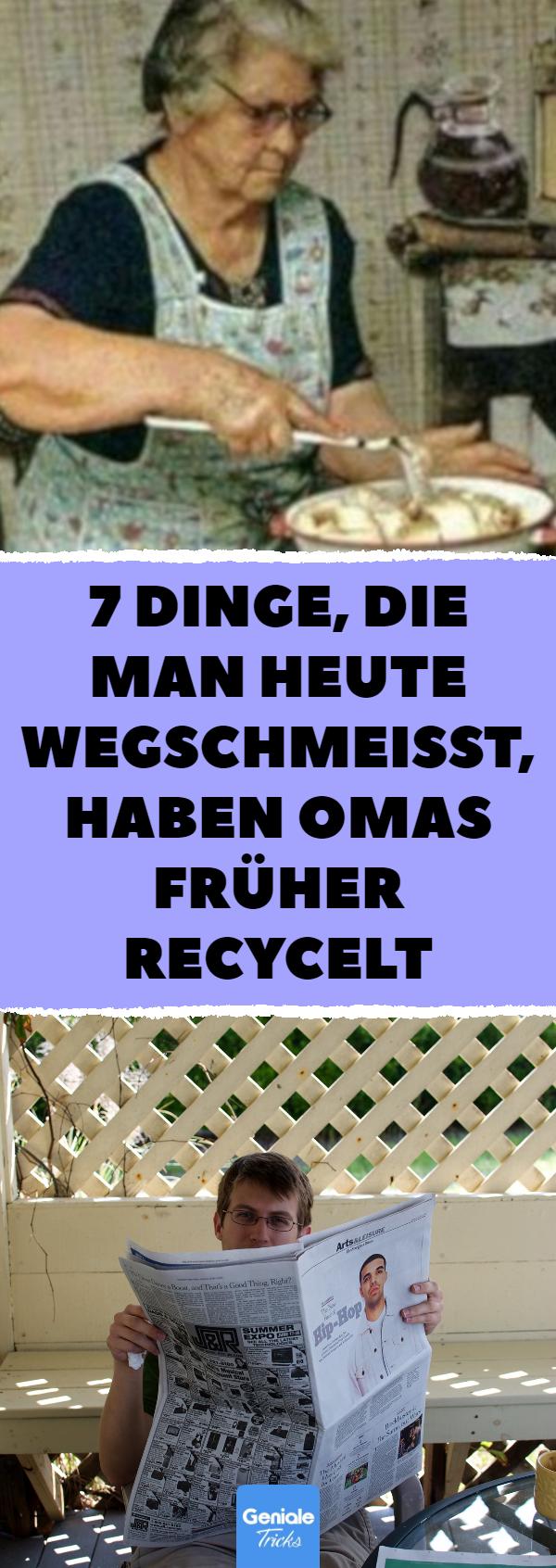 , 7 Dinge, die man heute wegschmeißt, haben Omas früher recycelt, Hygen Blogs 2020, Hygen Blogs 2020