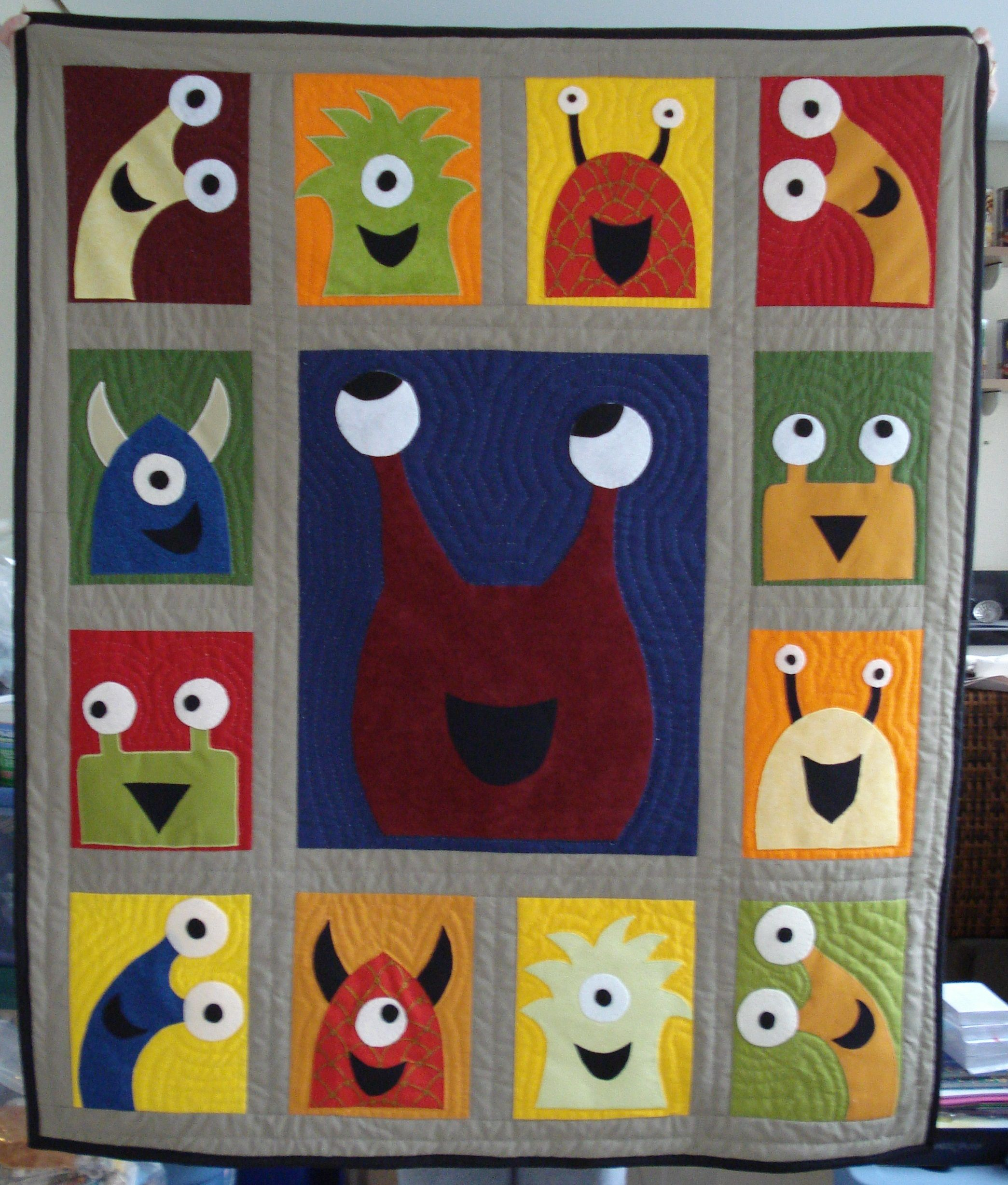 Eek Monster Quilt I Want To Make A Monster Quilt For My Grandson