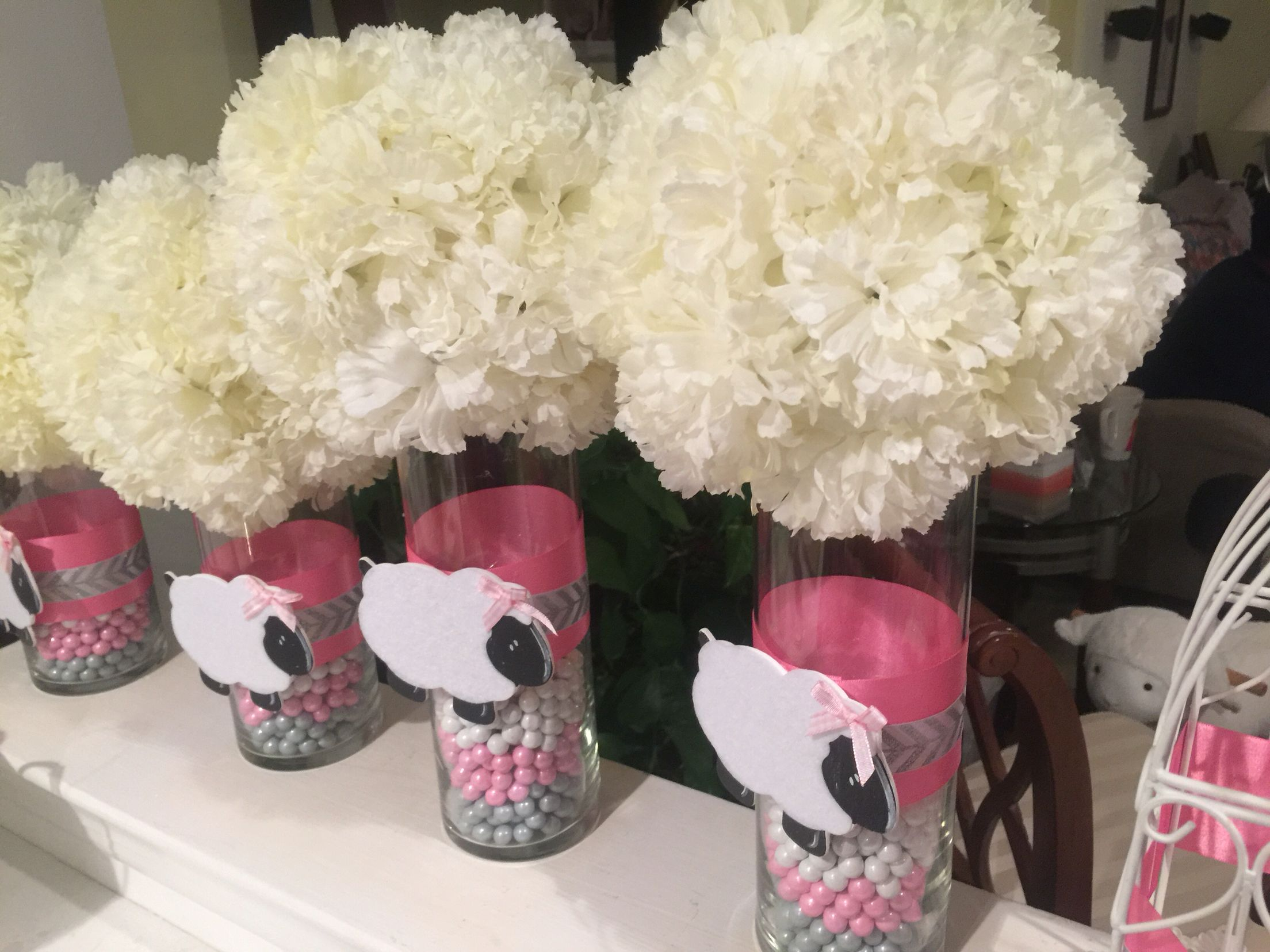 Lamb Baby Shower Centerpiece