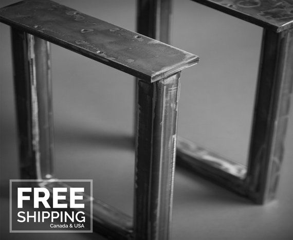 Beautifully Welded Metal Base Sets For Benches Console Coffee Table Or Dining