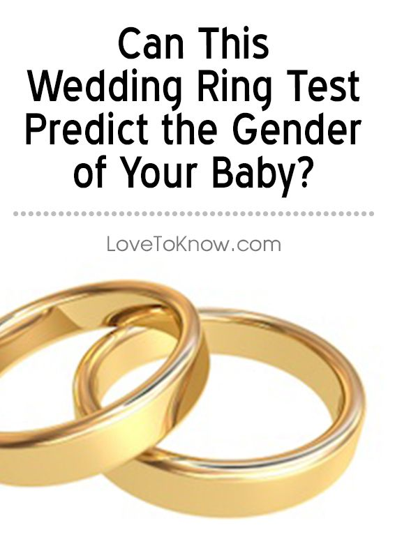 The wedding ring gender test is an old method for predicting the sex