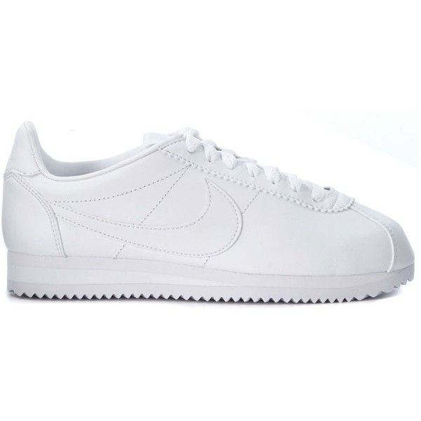 hot sale online a7773 3248f Cortez White Leather Classic Sneaker ( 105) ❤ liked on Polyvore featuring  shoes, sneakers · Nike TrainersSneakers ...