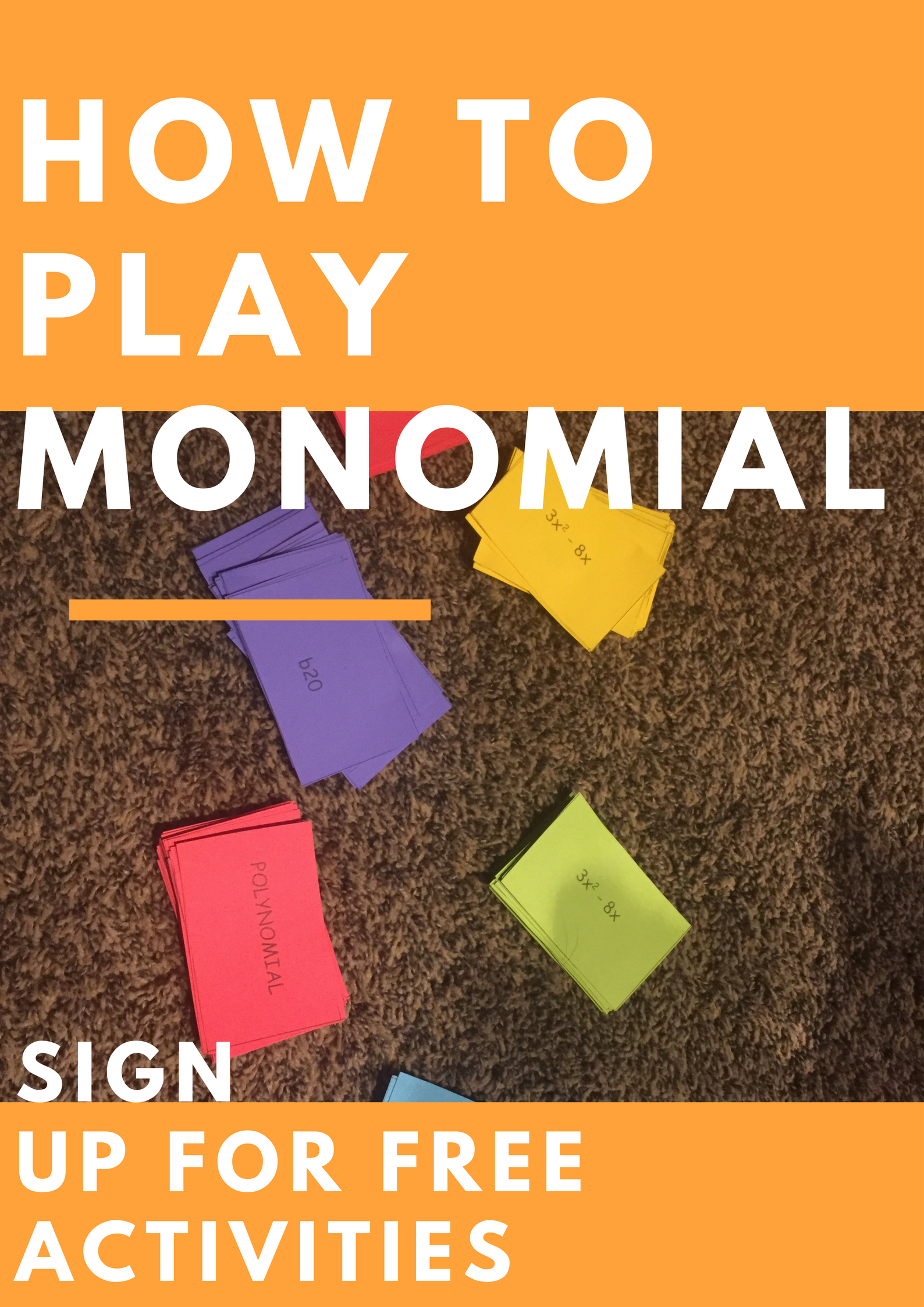 How to play monomial! | Algebra activities, Algebra games and Math ...