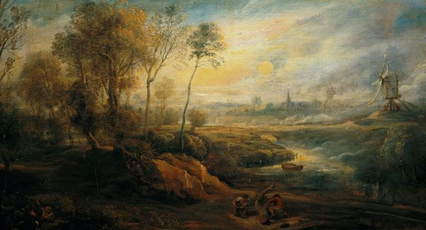 Landschaftsmalerei barock  Peter Paul Rubens - Landscape with a Birdcatcher | Peter Paul ...