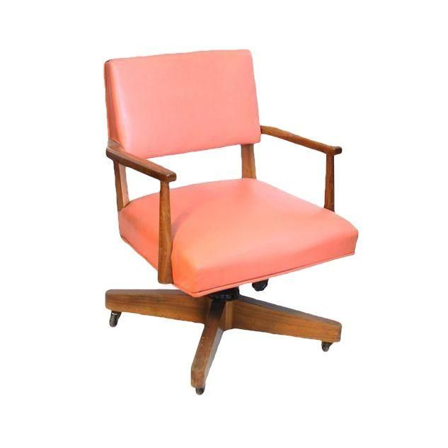 Tremendous Vintage Coral Desk Chair On Chairish Com Take A Seat Evergreenethics Interior Chair Design Evergreenethicsorg