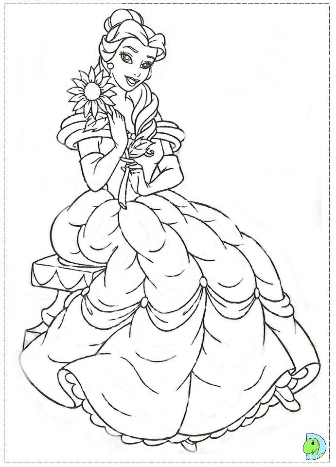 The Beauty And The Beast Coloring Page Disney Coloring Pages Disney Coloring Sheets Disney Princess Coloring Pages