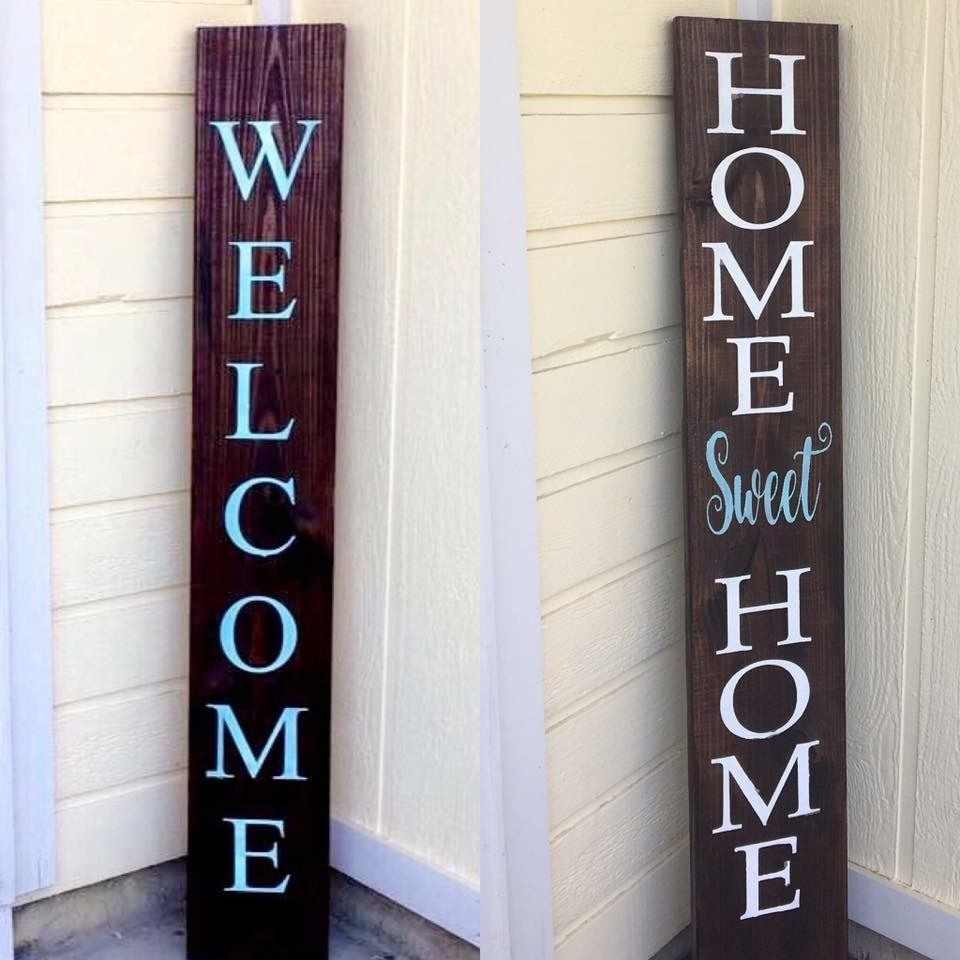 Reversible Front Porch Welcome Sign Welcome Signs Front Door Porch Welcome Sign Wooden Welcome Signs