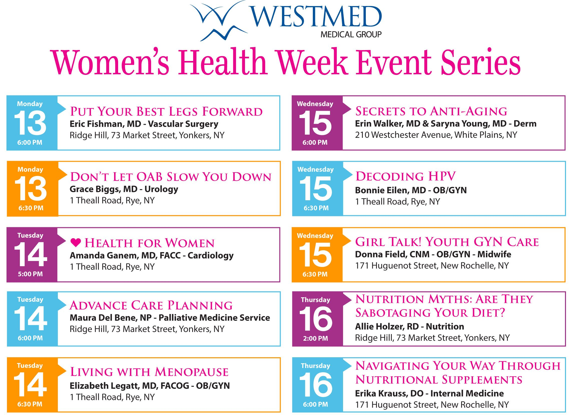 La S Westmed Invites You To Take Charge Of Your Health