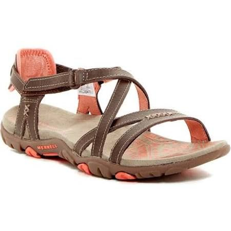b1c74960362 Merrell Women s Sandspur Rose Leather Sandals - Cocoa Coral (9)  49.97 +Tax    shipping