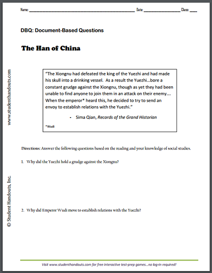 Sima qian records of the grand historian dbq worksheet on han sima qian records of the grand historian dbq worksheet on han china free to print for high school world history fandeluxe Gallery