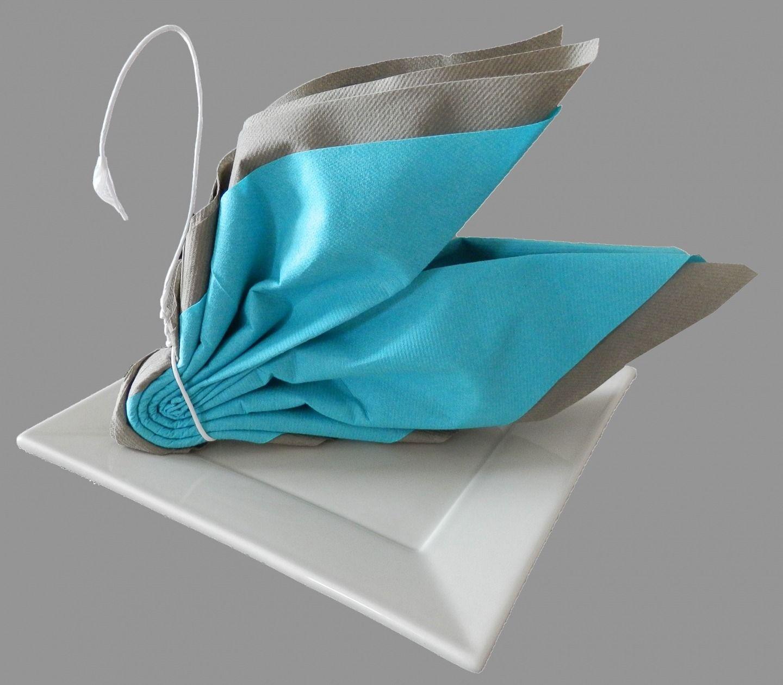 Pliage Serviette Papier 2 Couleurs Pour Anniversaire