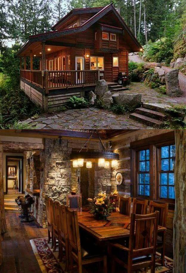 Cabins And Cottages Cabins And Cottages Omg The Stone Work Drool Modernhomeinteriors Wooden House Design Modern Cabin Cabins And Cottages