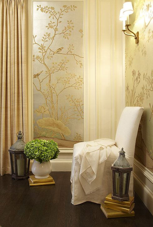 Curtains Ideas chinoiserie curtains : Hudson Interior Designs: Beautiful metallic silver & gold ...