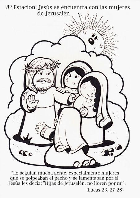 La Catequesis: Vía Crucis para colorear los niños de Catequesis ...