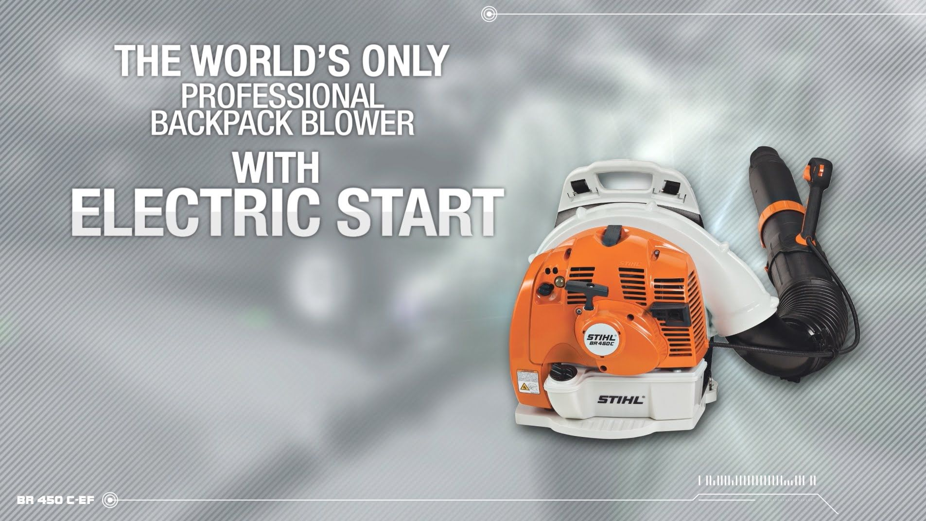 BR 450 CEF Backpack Blower with Electric Start Backpack