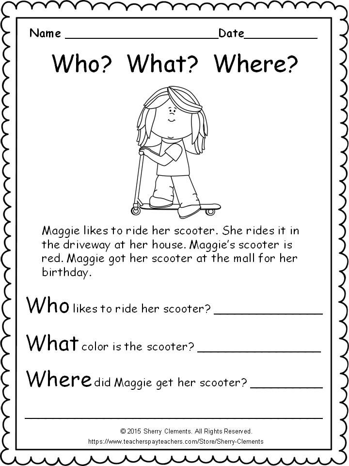 Cute Freebie! (9 pages) Includes language arts and math skills ...