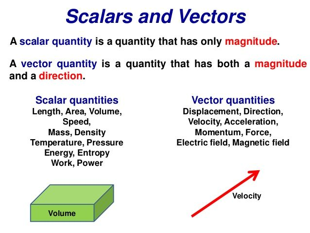 Scalars and Vectors A scalar quantity is a quantity that ...