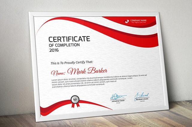 Best collection of free and psd premium certificate templates for - Free Professional Certificate Templates