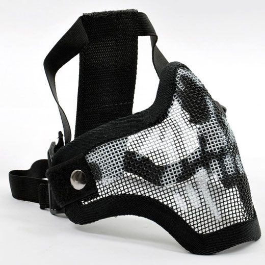 Stalker Lower Face Wire Mesh Skull Mask For Airsoft