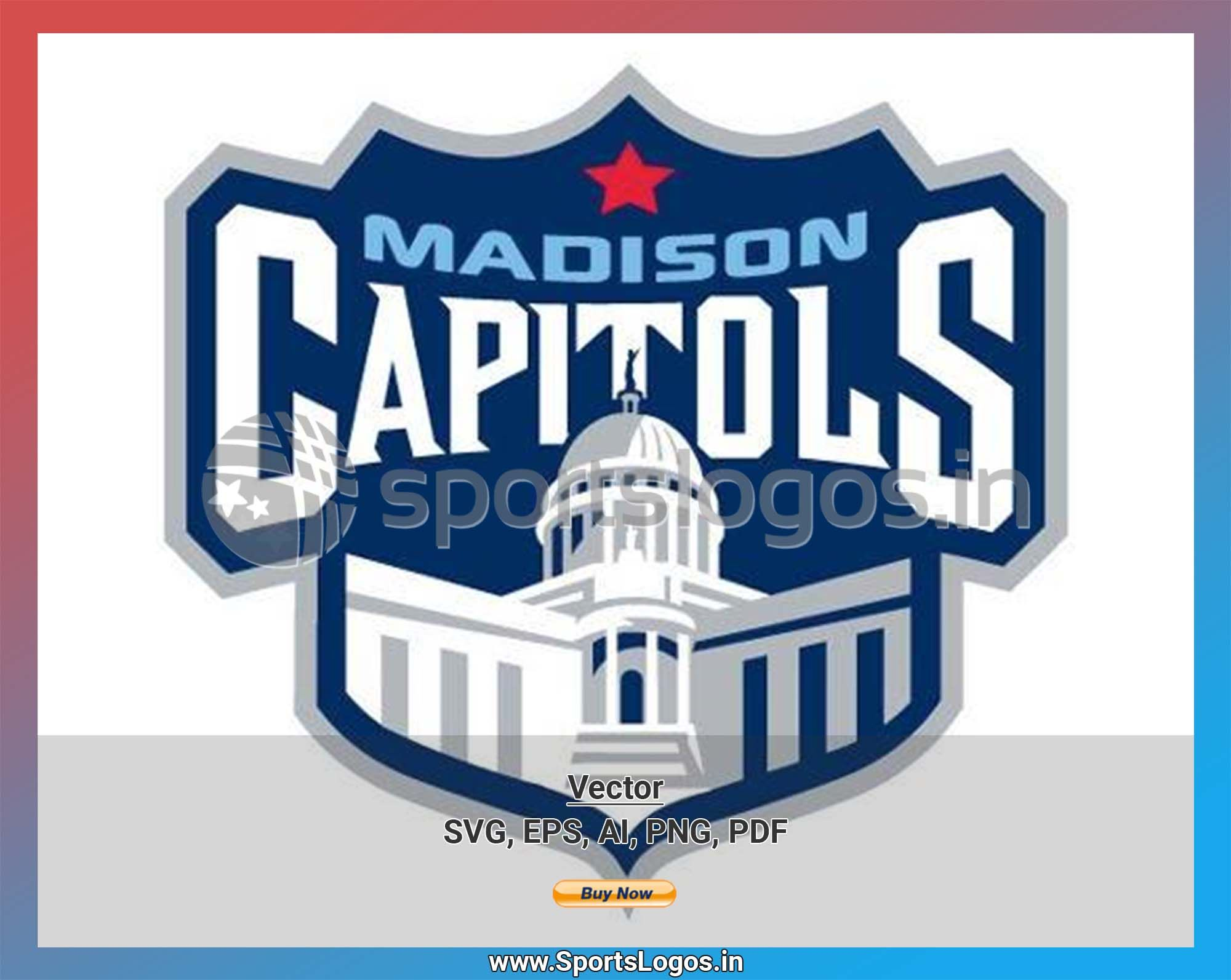 Madison Capitols Hockey Sports Vector Svg Logo In 5 Formats Spln002499 Sports Logos Embroidery Vector For Nfl Nba Nhl Mlb Milb And More Sport Hockey Sports Logo Embroidery Logo