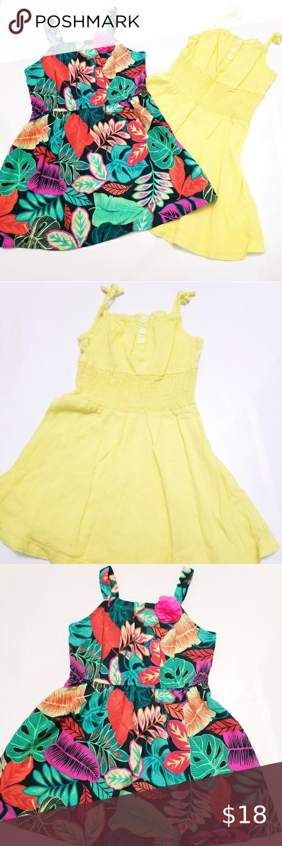 Set Of 2 Toddler Girl Summer Dresses 4t Toddler Girl Dresses Summer Girls Dresses Summer Toddler Girl Summer [ 1740 x 580 Pixel ]