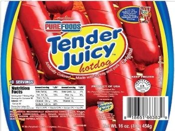 Best Seller San Miguel Purefoods Tender Juicy Hotdog