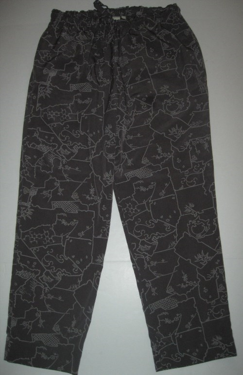 14.84$  Buy here - http://viiqv.justgood.pw/vig/item.php?t=yr2ab152313 - Anthropologie by Eloise Lounge Pants Womans XS brown funky Print 14.84$