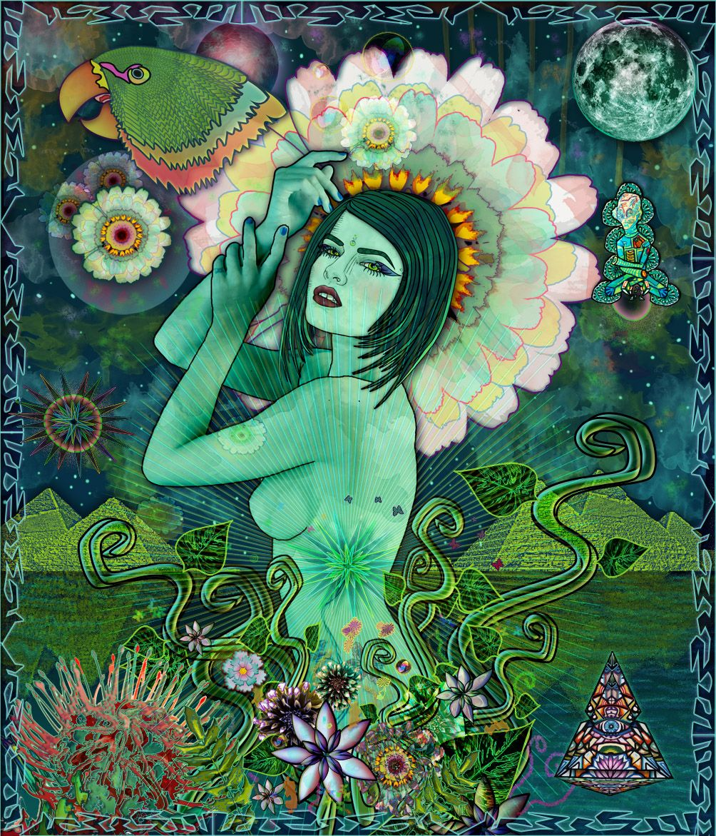 """"""" Midnight Flower""""     Mixed Media, Diciembre 2012.     María Salcedo, México.     All rights reserved.     lamariadsign.tumblr.com     mariadsign@gmail.com     http://www.facebook.com/pages/MaRia-Dsign"""