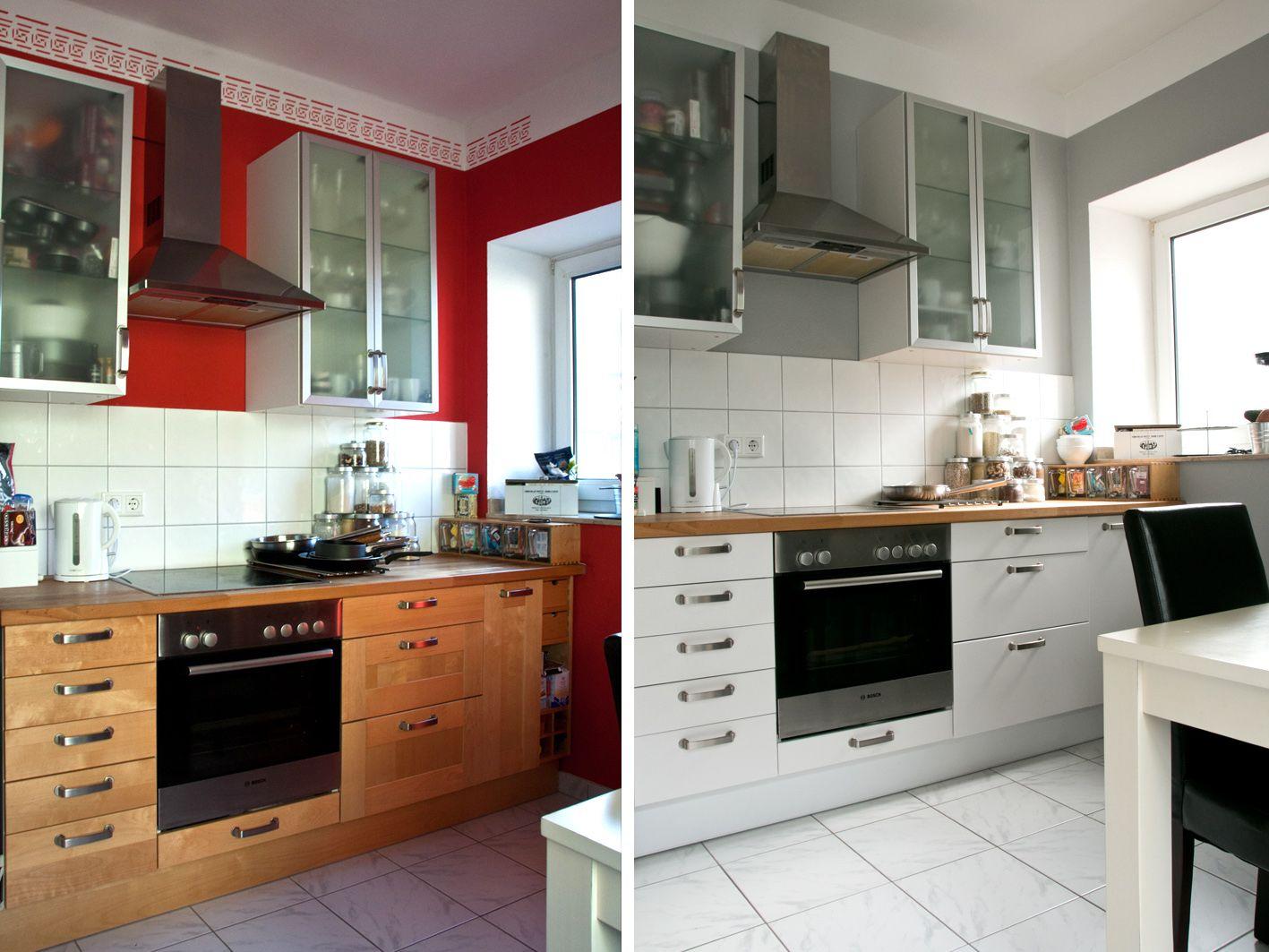 Küchenfronten Streichen ~ Makeover: küche verschönern vorher nachher teil 2 kitchens