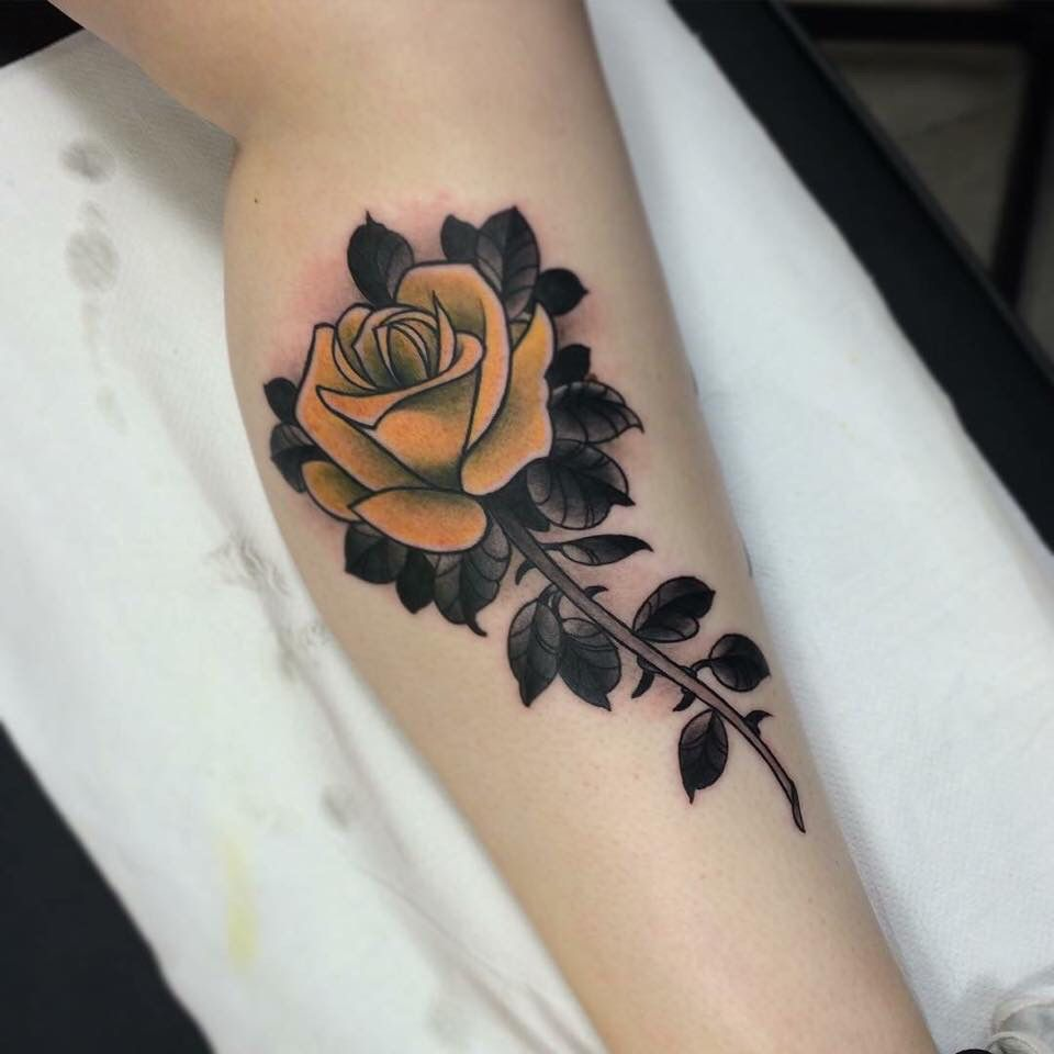 Tattoo Ideas Yellow Rose: Yellow Rose Tattoo By Jason James Www.doomhand.com