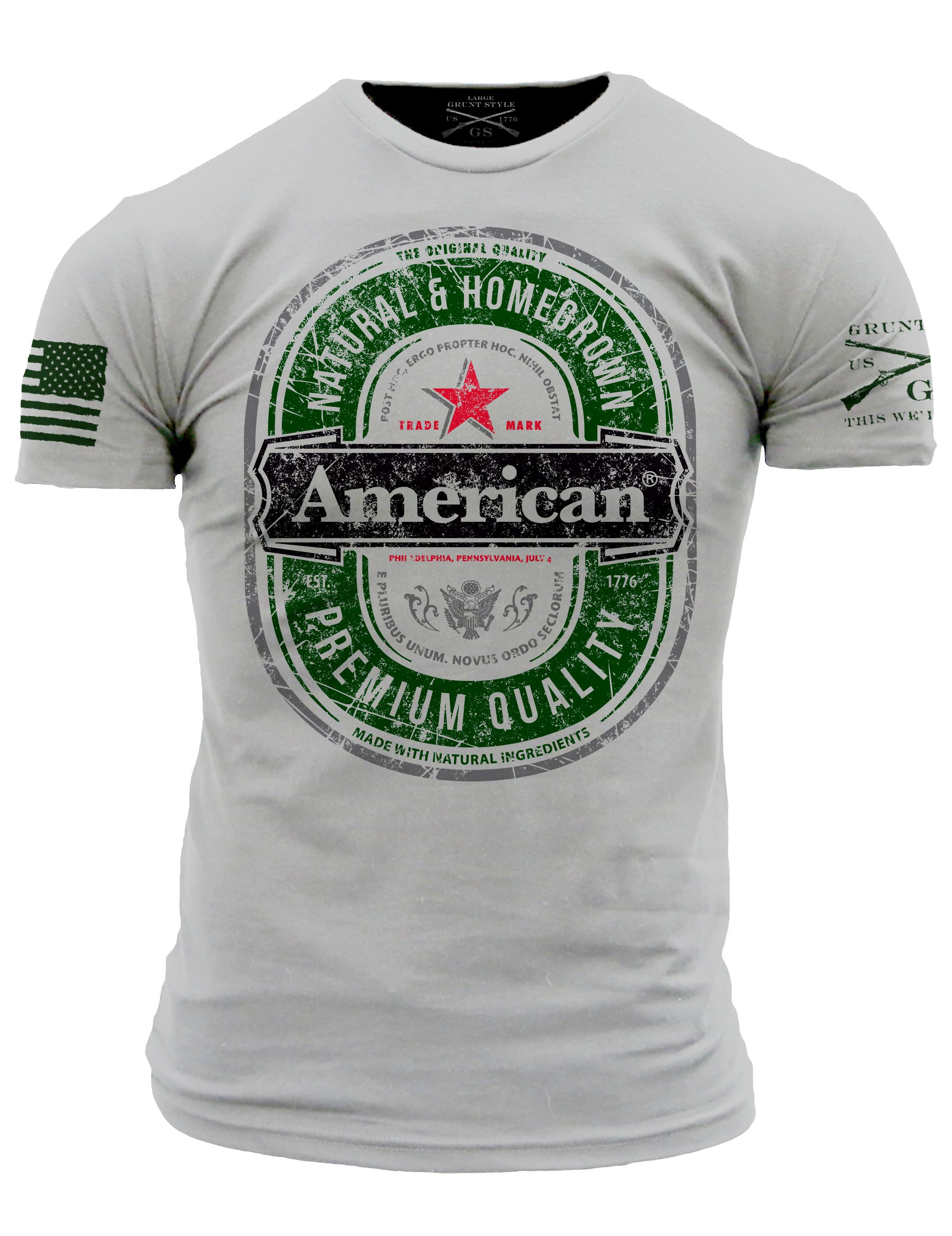 Crack open our newest shirt, it's refreshingly American. Get yours quick, while supplies last. Starts shipping on Monday.