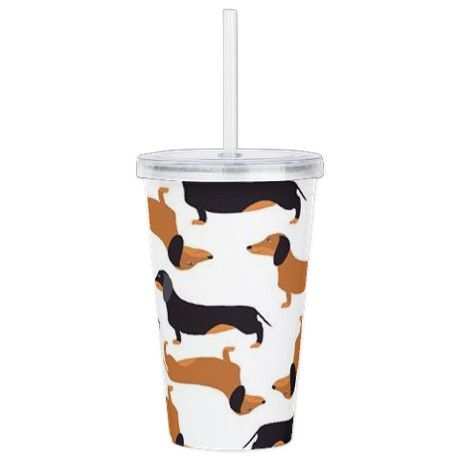 Cute Dachshunds Acrylic Double-wall Tumbler on CafePress.com