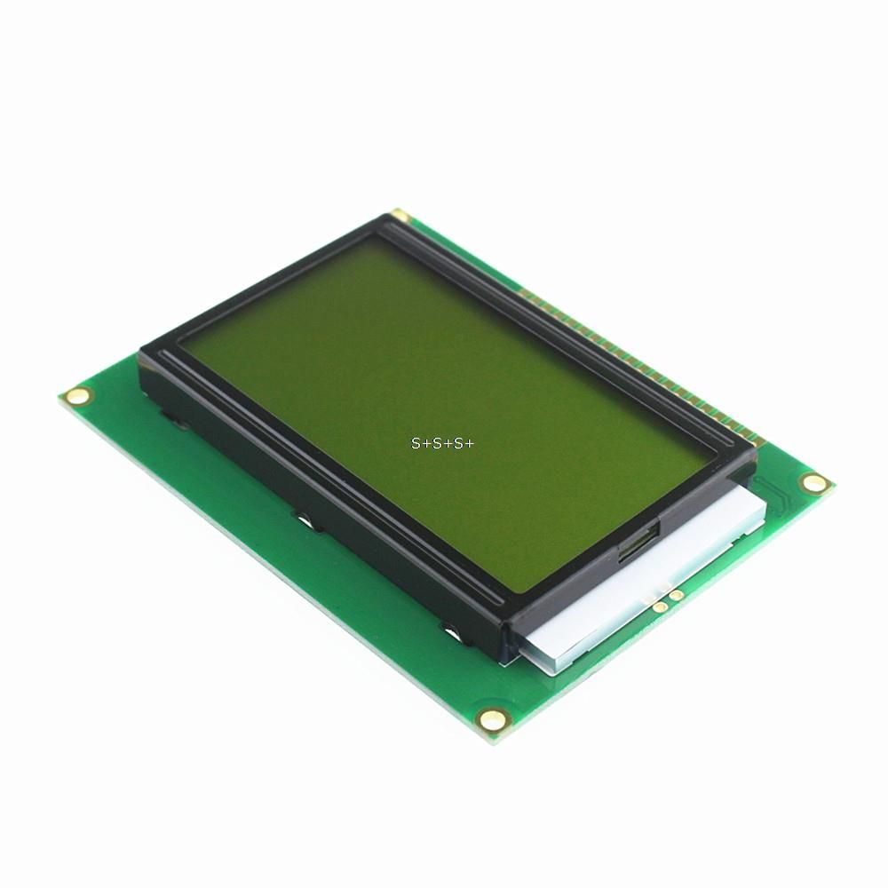 Smart Electronics 12864 Dots Lcd Module 5v Yellow And Green Screen Circuit Boardsled Boardled Pcb Board Buy Led Light With Backlight Parallel Port