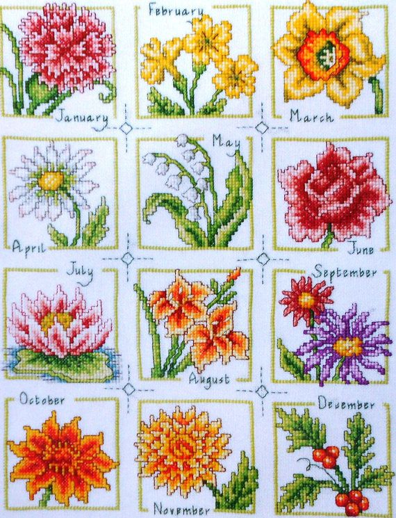 Susan Bates A YEAR of FLOWERS of the Month by