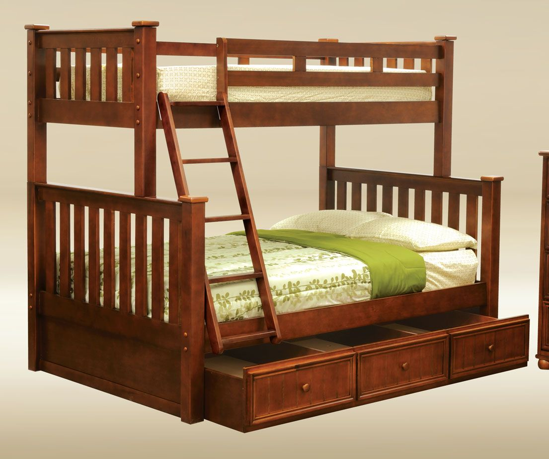 Best Dark Pecan Bunk Bed With Images Bunk Beds Kids 400 x 300