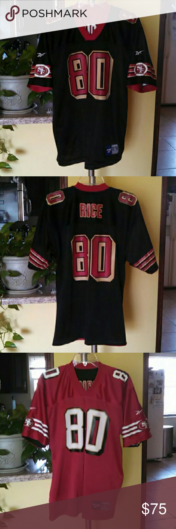 cheap for discount 99067 6a0cd Vintage 90s San Francisco 49ers Jerry Rice Jersey Men's ...