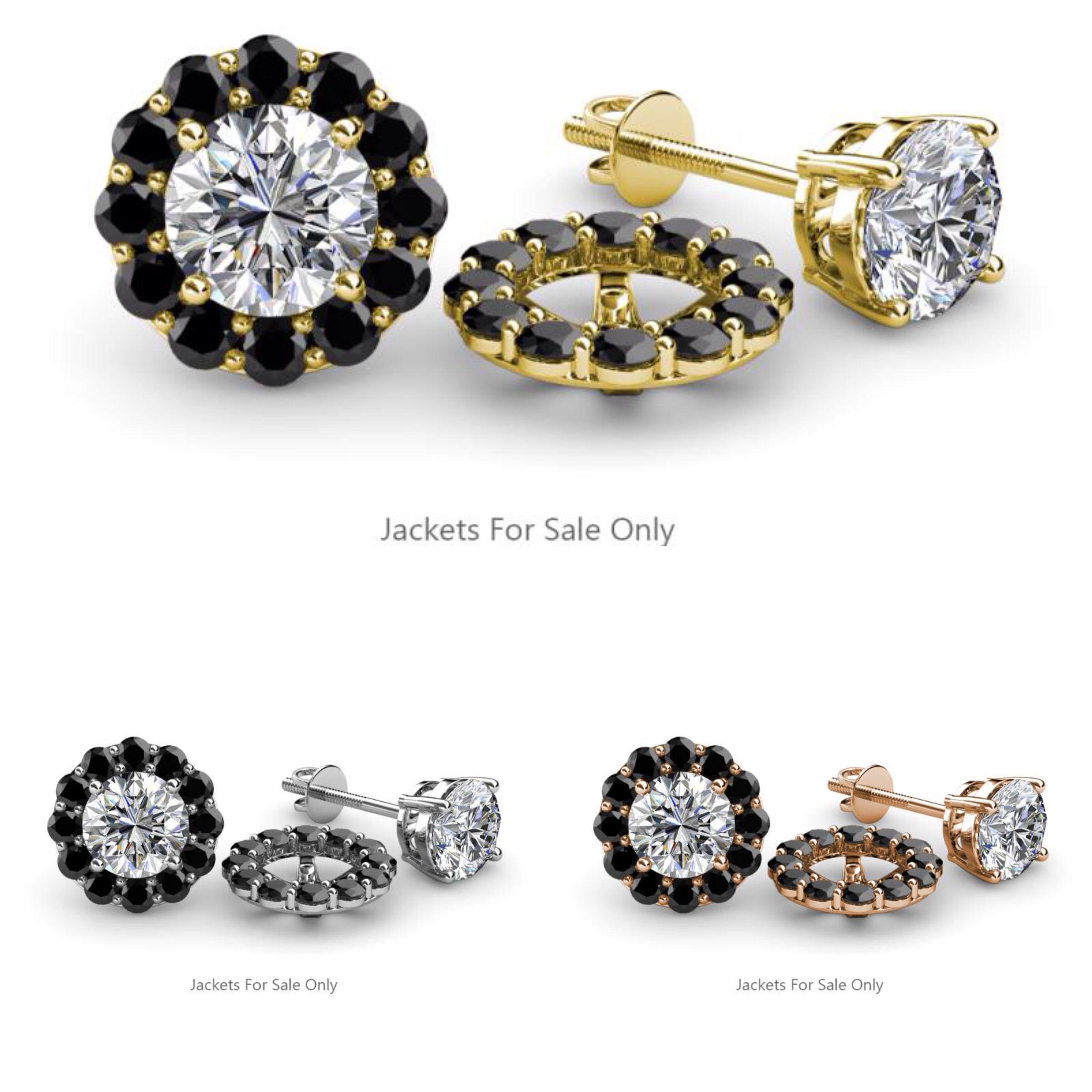 Gold Color Flowers Jacket Stud Earrings In White Yellow Rose 30 Days Return Jacketearrings Earstuds Studs Blackdiamond