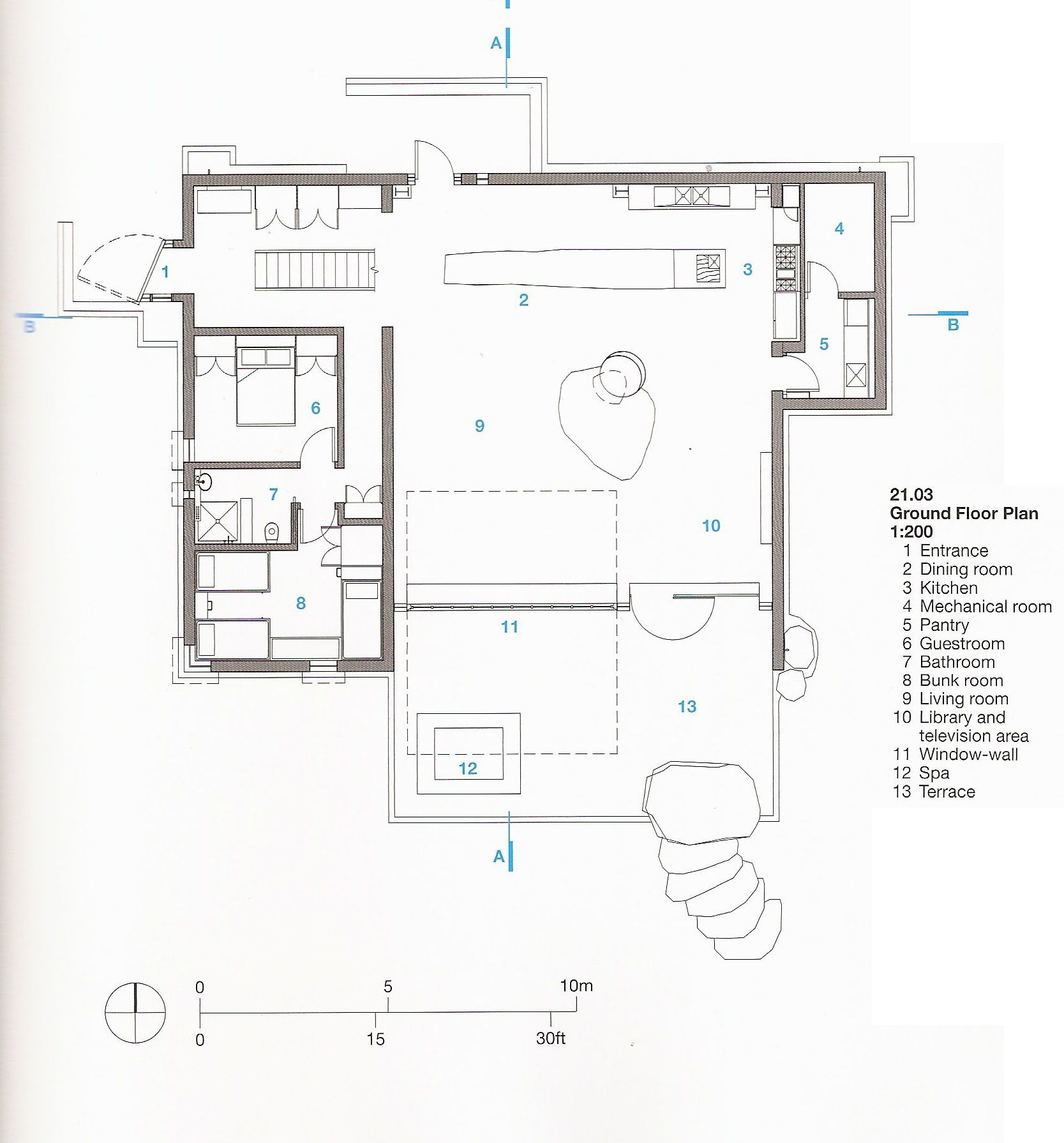 archetype research detailed drawings cabin and architects