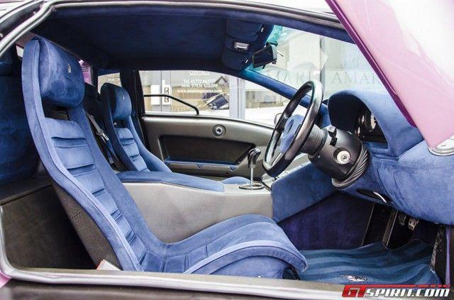 Viola Metallic Exterior With Blue Suede Interior Lamborghini Diablo