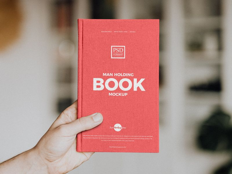 Man Holding Book Free Psd Mockup Book Cover Mockup Business Card Mock Up Mockup Free Psd