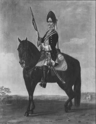 "David Morier (1705?-70) Grenadier, Regiment of Dragoons ""Würtemberg"" (?)  c. 1748  Oil on canvas 