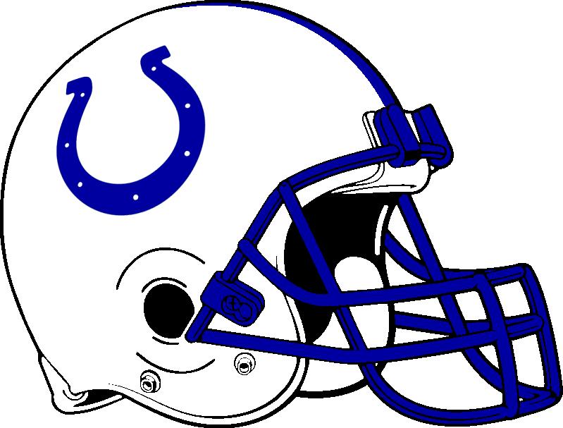Indianapolis Colts 2 Football Helmets Nfl Teams Indianapolis Colts