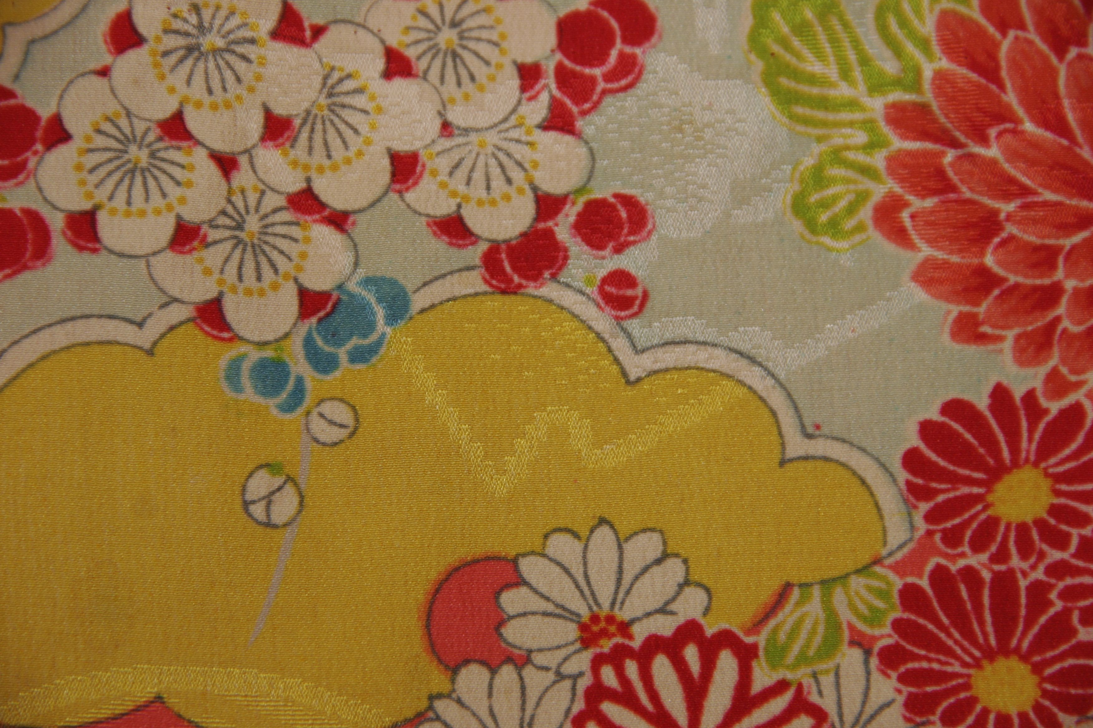 detail of silk japanese haori