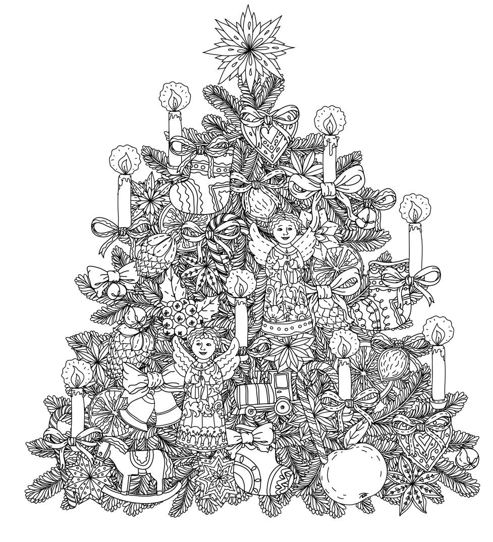 Christmas Adult Coloring Pages Beautiful