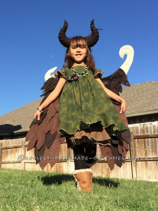 Young Homemade Maleficent Costume – Only If She Could Fly!...
