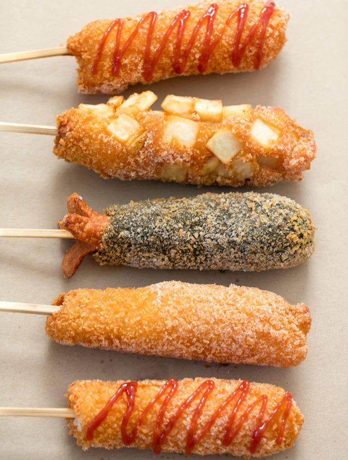 Myungrang Hot Dog Aesthetic Food Korean Food Cafe Food