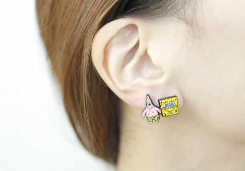 Spongebob Squarepants Patrick Star Earrings Anpanman Baikinman earring